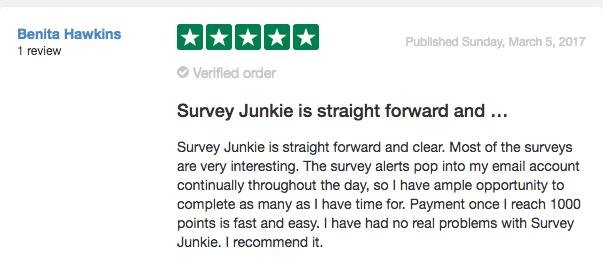 Survey Junkie Review From Trust Pilot #2