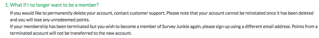 how to delete survey junkie account