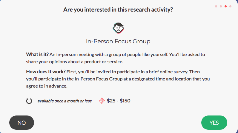 SurveyJunkie - In-Person Focus Group