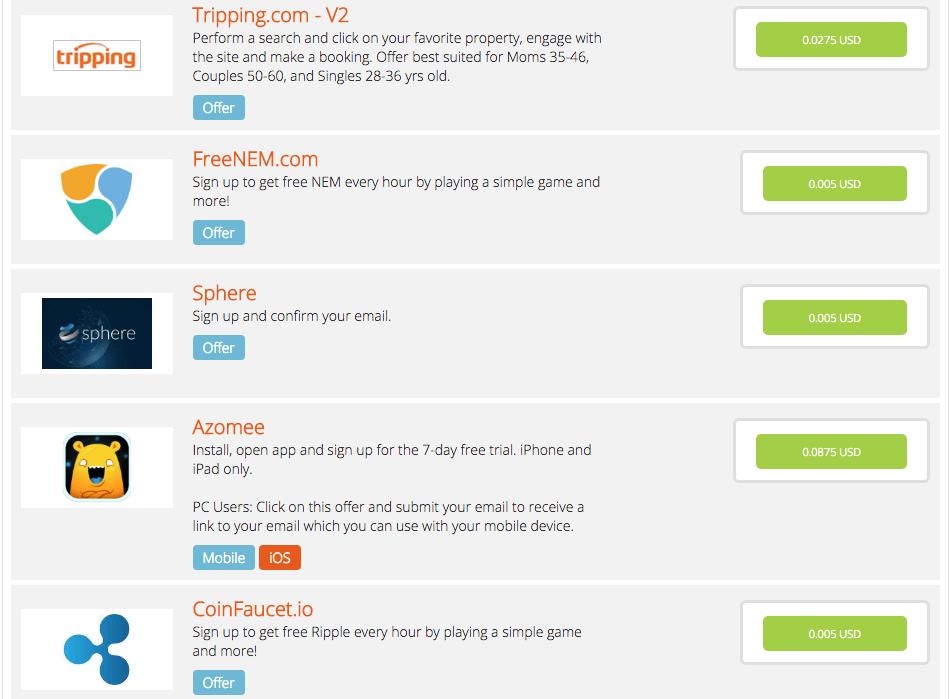 Unique Rewards OfferWall