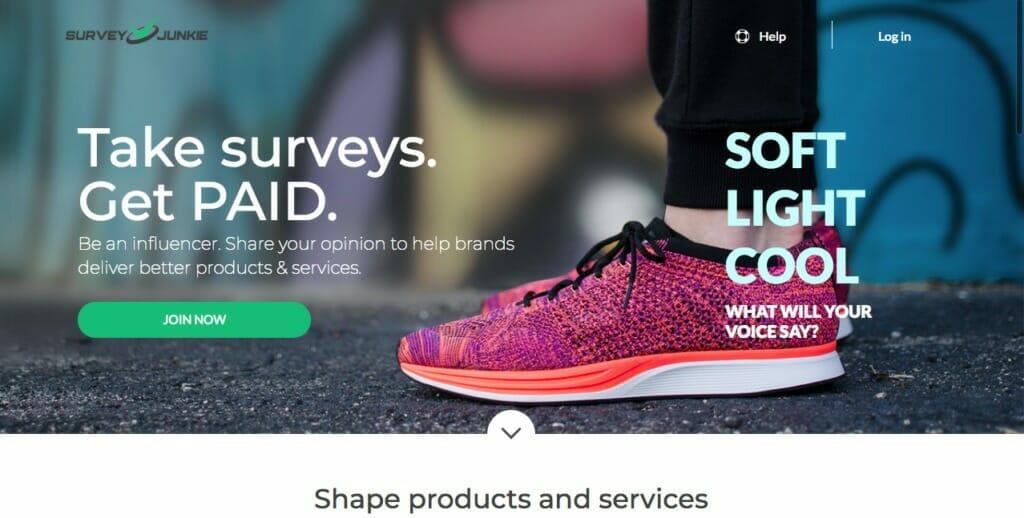 Survey Junkie Homepage Oct 2018